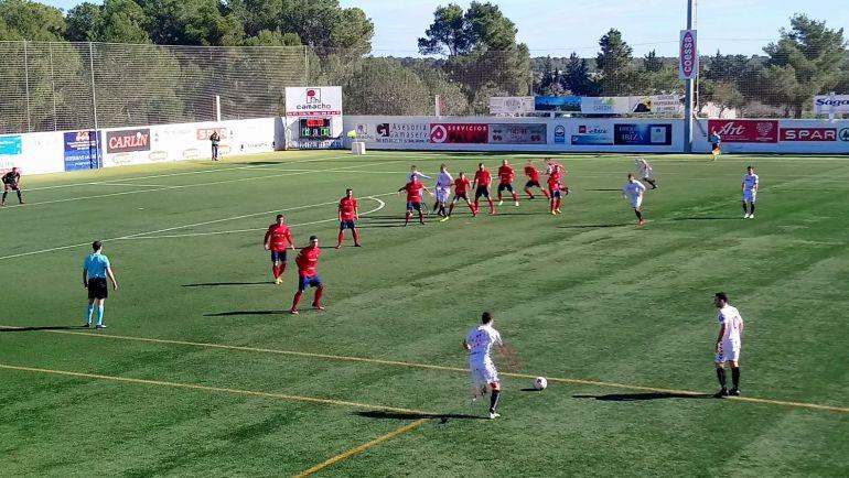 Imagen del partido jugado en Santa Eulària
