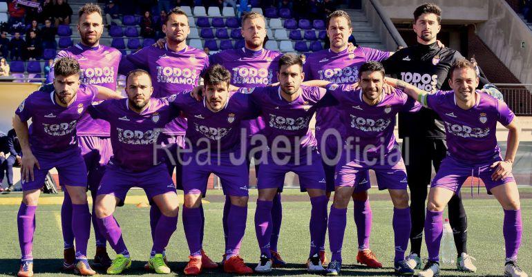 Once titular del Real Jaén en el partido disputado este pasado domingo en Loja.