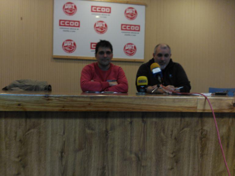 Jorge Melero y Modesto Rioseras, secretarios comarcales en la Ribera del Duero de CCOO y UGT respectivamente