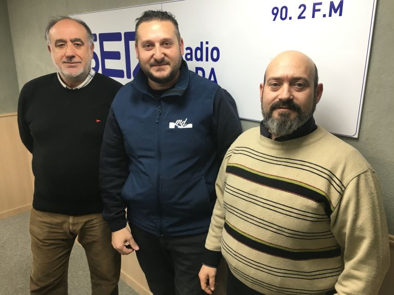 Joaquín Juan Marco, Miguel Díaz y Antonio Roda en Embajada