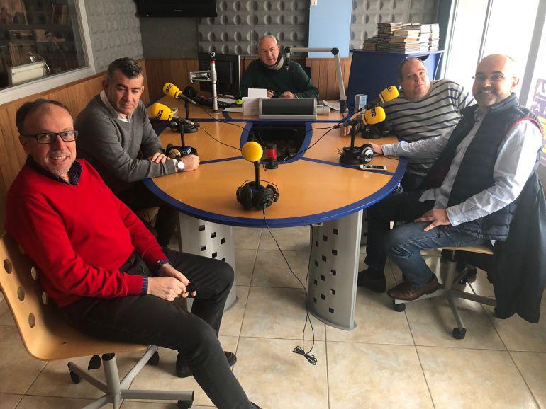 Joan Serra, Julián Aguilar, Aitor Morrás y Vicent Roig
