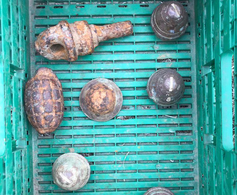 Los artefactos han sido localizados en un camión procedente de Francia
