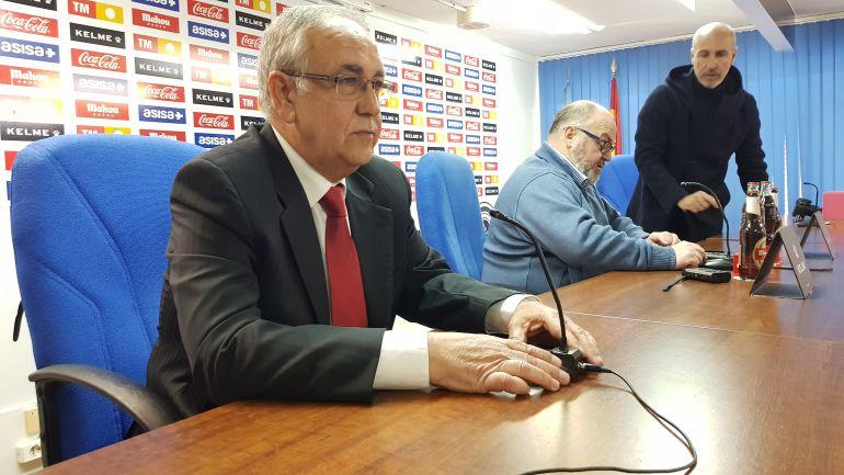 Quique Hernández y Ramírez, en la sala de prensa del Rico Pérez