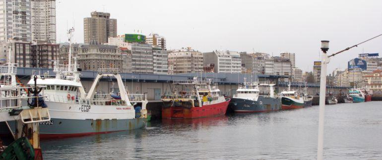 Pesqueros en A Coruña