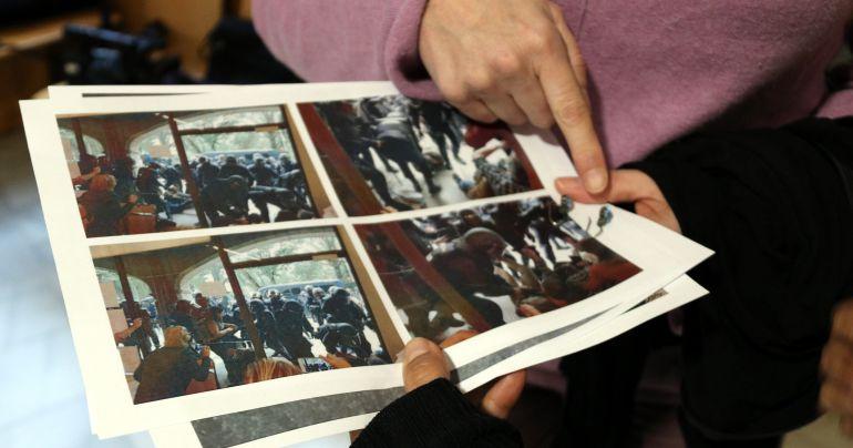 Alguns dels afectats portaven fotografies.