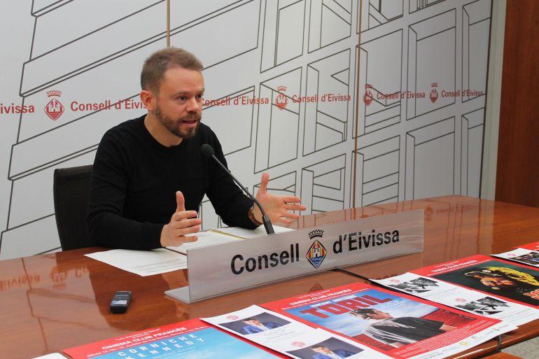 El conseller David Ribas durante la presentación