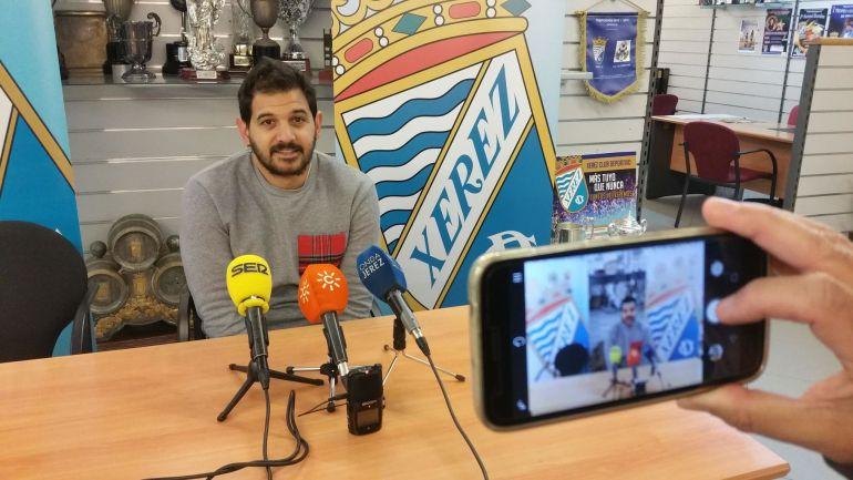 José María Barragán durante una rueda de prensa