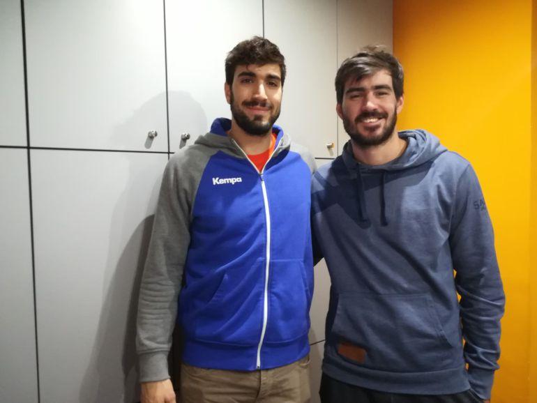 Juanjo Fernández y Sebastián Simonet en los estudios de Radio León
