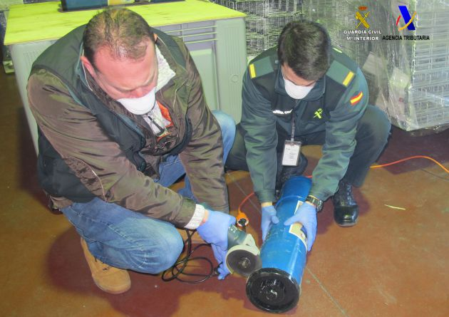 Detenidos por usar tubos de PVC para transportar droga
