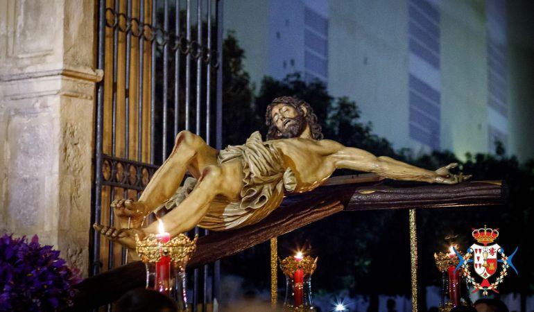 Imagen de archivo del Cristo de Las Cinco Llagas en uno de sus vía crucis del Miércoles de Ceniza