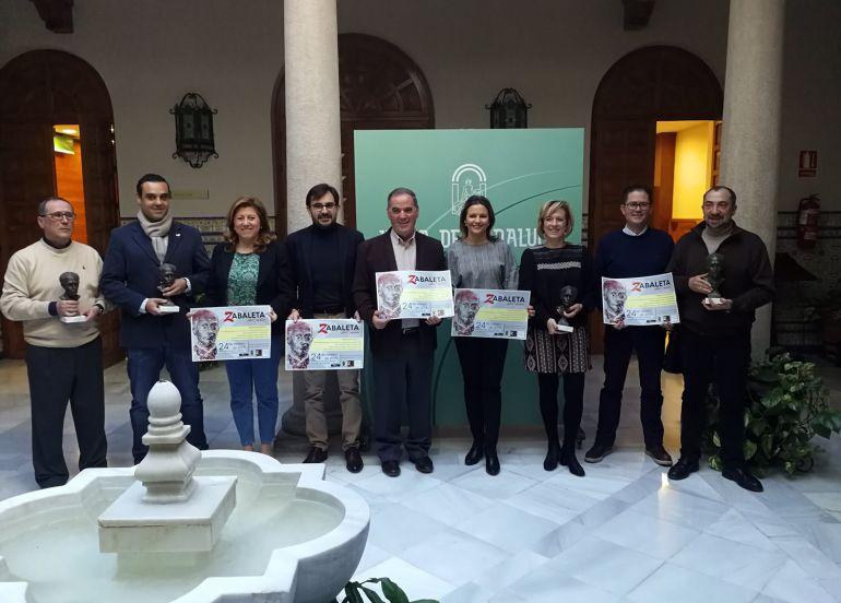 Presentacion de los galardonados con los premios Zabaleta del año 2017 en la Delegación de Gobierno de la Junta de Andalucía