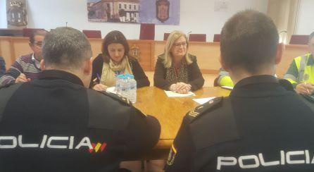 La subdelegada de Gobierno, Francisca Molina y alcaldesa, Ana Dolores Rubian han presidido la Junta de Seguridad Ciudadana