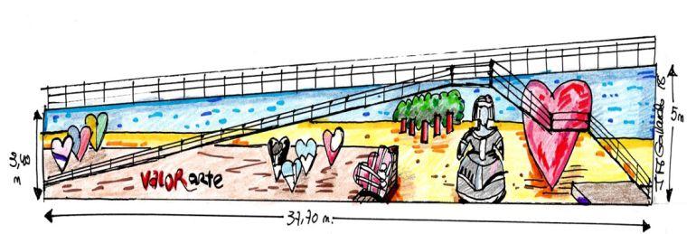 Proyecto de intervención artística para el gran muro junto al Puente San Agustín de Puertollano