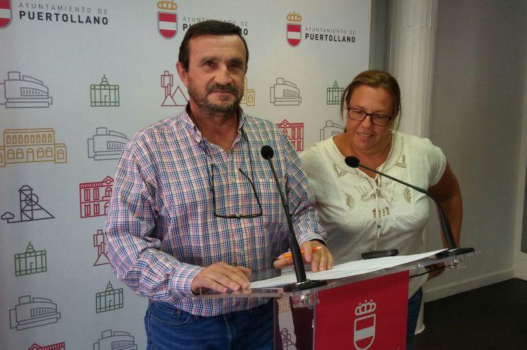 Rafael López e Irina Alonso, también concejal en el Grupo Municipal de Ciudadanos Puertollano