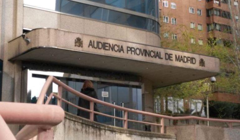 Exteriores de la Audiencia de Madrid