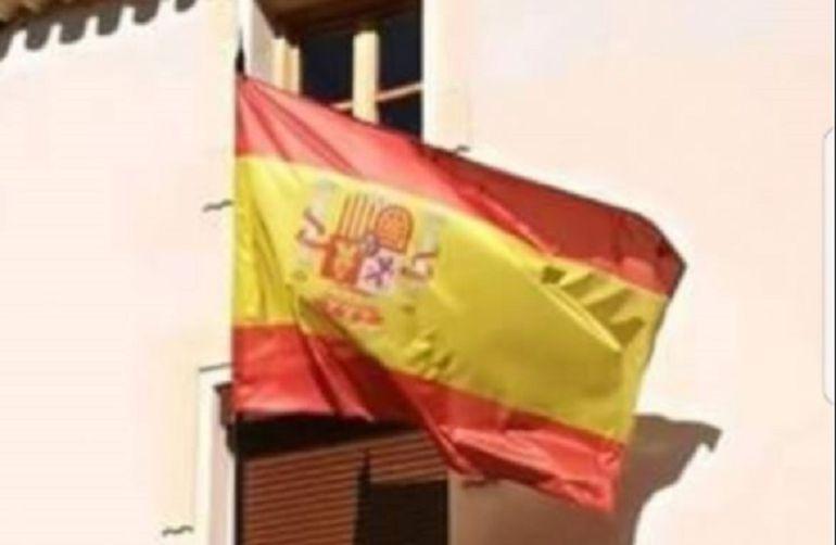 Así ondeó durante seis meses la bandera de Socovos