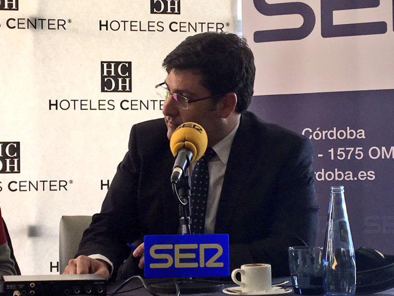 El presidente del Córdoba, Jesús León, en un momento del programa