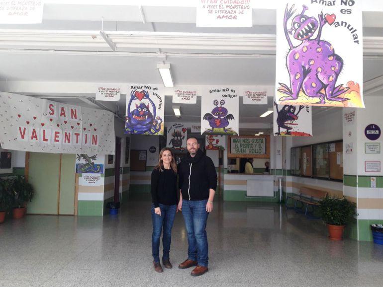 Campaña contra la violencia de género en el instituto Cerro de los Infantes de Pinos Puente (Granada)