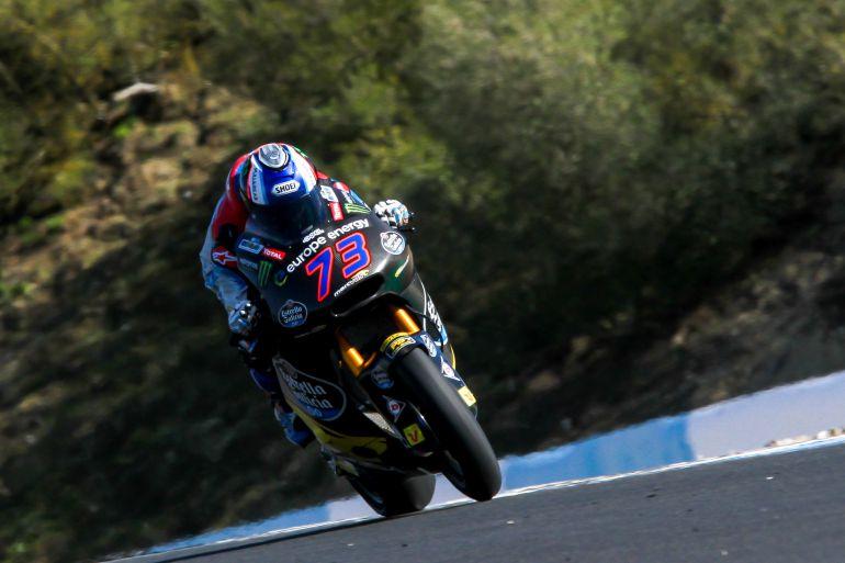 Álex Márquez rodando este miércoles en el Circuito de Jerez
