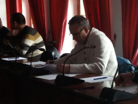 Antonio Sánchez durante su última sesión plenaria