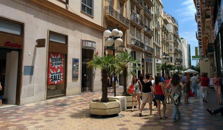 Calle comercial de Valencia