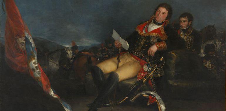 Manuel Godoy retratado como vencedor de la guerra de las Naranjas, por Goya
