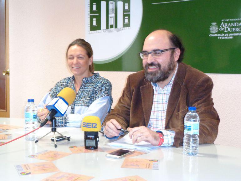 María Ángeles Marín y Máximo López, concejales de Juventud y Acción Social, respectivamente
