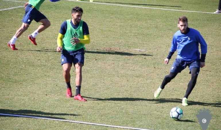 Imagen de un entrenamiento del Cádiz CF