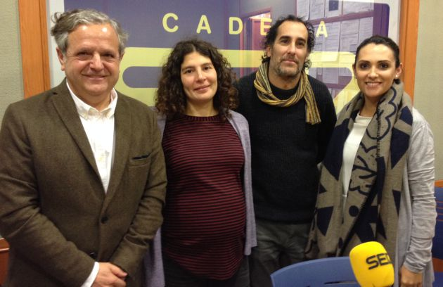 Salvador Fuentes (PP), Victoria López (Ganemos), Juan Hidalgo (IU) y Carmen González (PSOE)