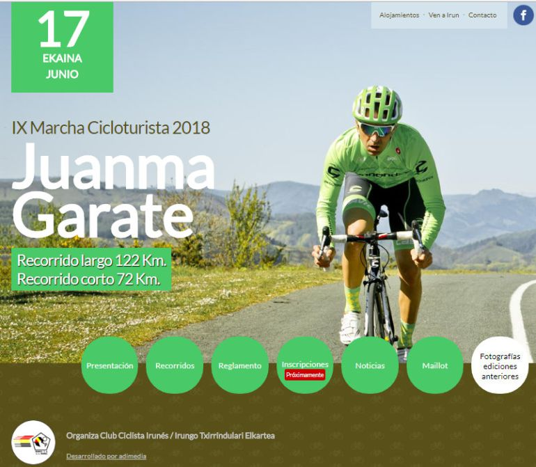 Cartel anunciador de la Marcha Juanma Garate de este año.