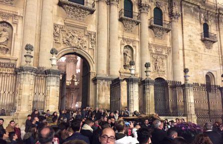 Salida del Cristo de la Clemencia de la Catedral.
