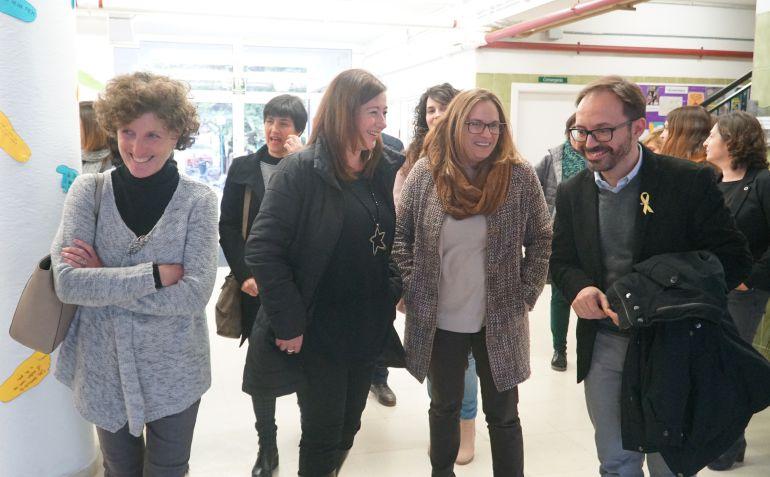 La presidenta Francina Armengol explicó en Ciutadella el anteproyecto  del centro integrado de hostelería.
