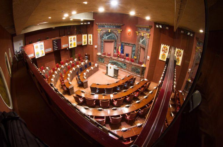 El pleno de la Asamblea Regional de Murcia, con sede en Cartagena.