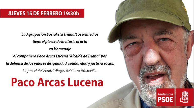 """Paco Arcas: """"Qué mayor homenaje que el cariño que me tenéis"""""""