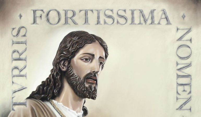 Cartel anunciador del Vía Crucis de las Cofradías de Sevilla que protagoniza el lunes el Señor Cautivo ante Pilato de la Hermandad de Torreblanca