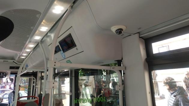 Las cámaras de seguridad son una de las nuevas incorporaciones a los autobuses