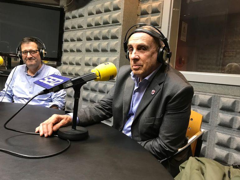 Piero Gondolo della Riva en los estudios de Radio Vigo