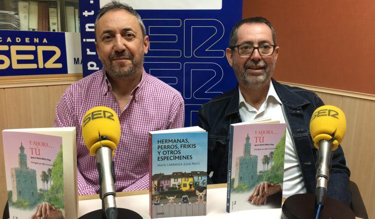 Chema Contreras (i) y Ignacio R. Martín Vega, autor de 'Y ahora… Tú'