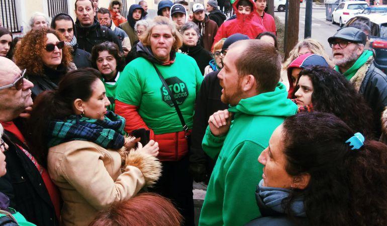 Ricardo es uno de los miembros más activos en las protestas contra desahucios realizadas por la PAH de Parla