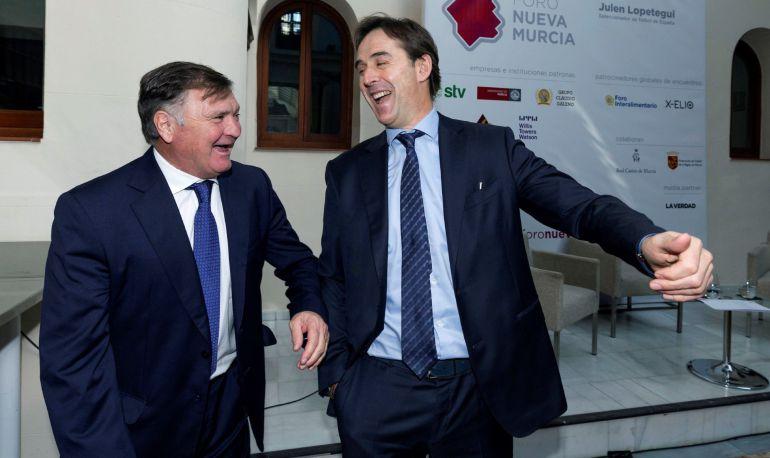 Lopetegui recrea sus vínculos con Murcia