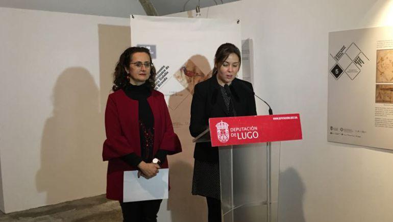 Pilar García Porto presentando la jornada sobre Santa Eulalia de Bóveda