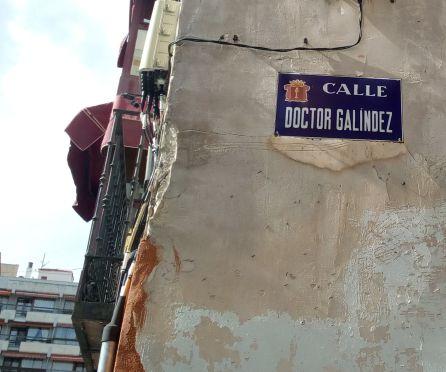 Calle Dr. Galíndez en Cuenca.