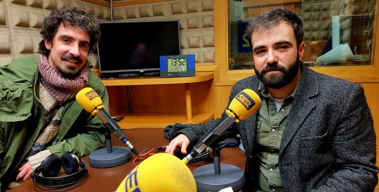 La banda asturiana Alberto & García en los estudios de Radio Asturias-SER
