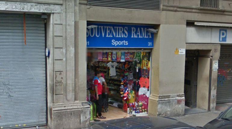Botiga de souvenirs a la Rambla de Barcelona