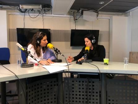 María Pagés con Puri Beltrán, durante la entrevista