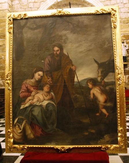 Cuadro del Descanso en la huida a Egipto de la iglesia de la Asunción de Villacarrillo