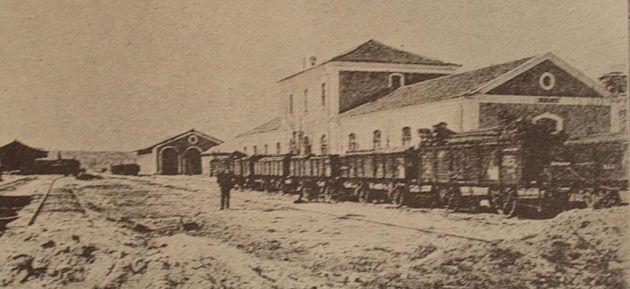 Estación del ferrocarril de Cuenca en las primeras décadas del siglo XX.