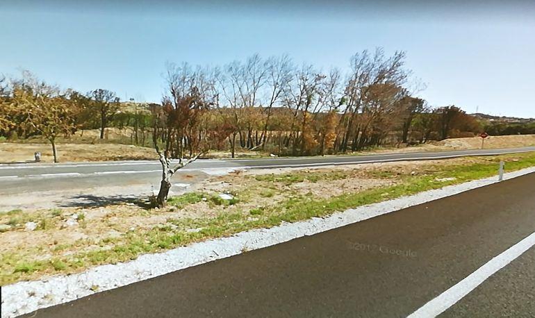 L'àrea de descans de Capmany, a l'AP7, on van deixar els 5 immigrants e