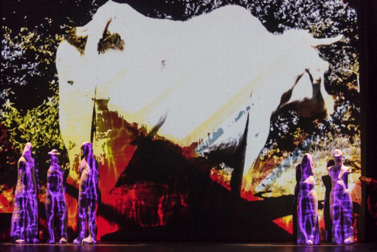 La fura dels Baus en Castellón: La Fura dels Baus con el espectáculo 'Free Bach 212' en Castellón
