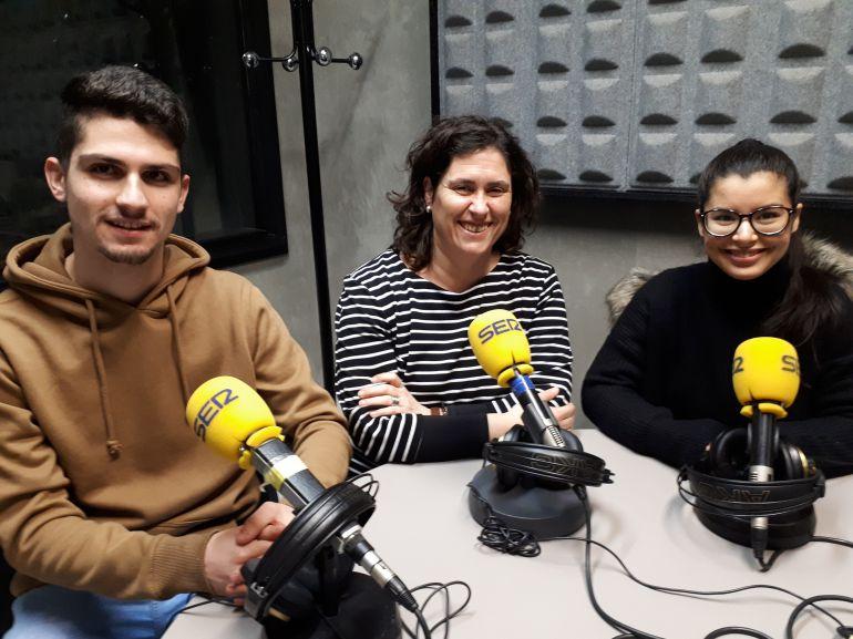 Ibon Herrero, Enara Iriondo y Fátima Zara